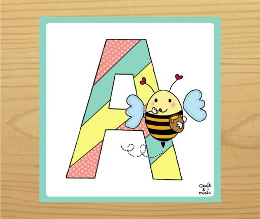 Abecedario infantil - A.001