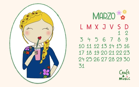 Calendario descargable marzo craft&music