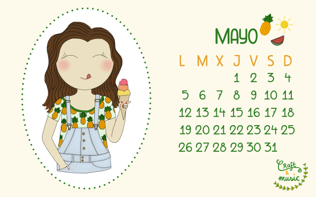 Calendario mayo craft&music