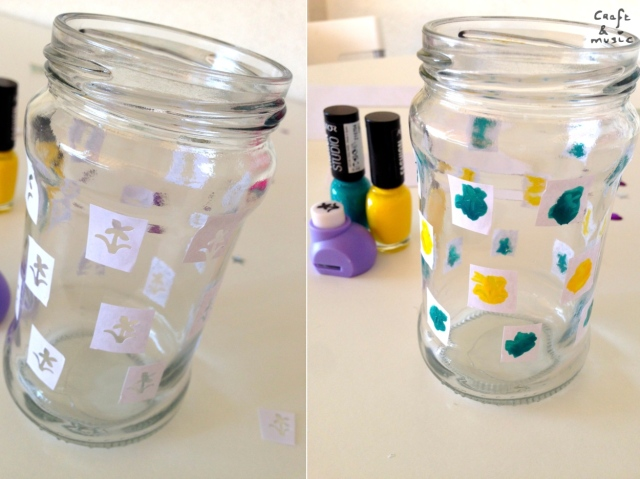 tarros de cristal decoración DIY proceso 2