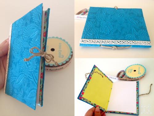 tutorial libreta encuadernación DIY decoración