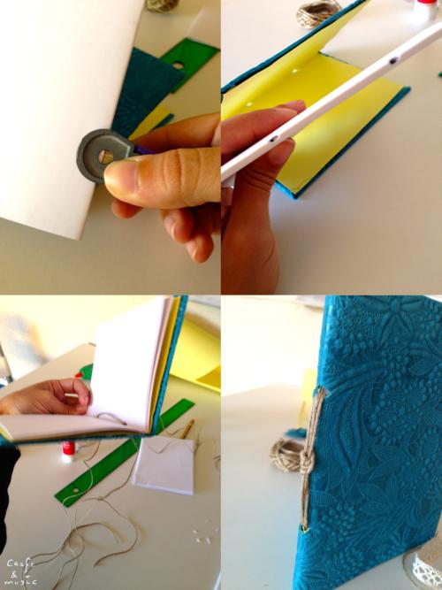 tutorial libreta encuadernación DIY proceso 3