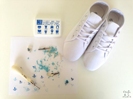 Zapatillas print anclas DIY