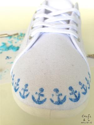 Zapatillas print anclas proceso