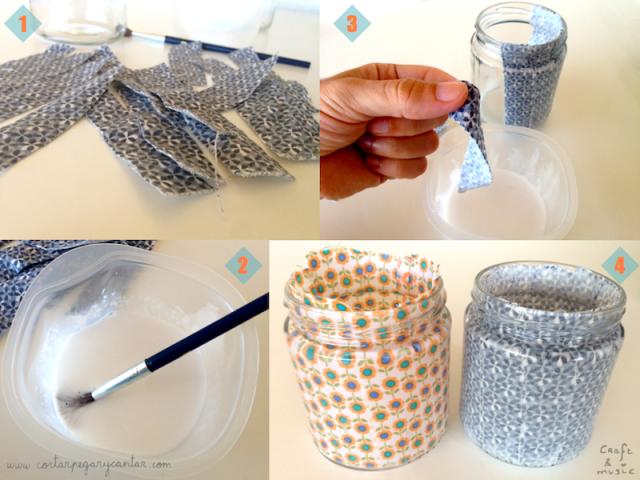 tarros de cristal decorados proceso