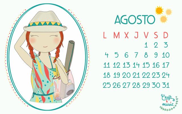 Calendario agosto craft&music
