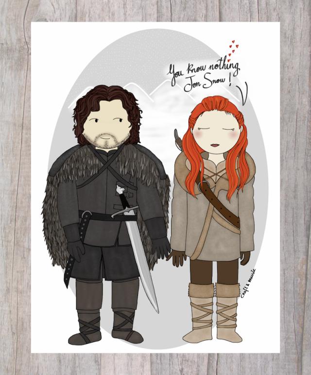 Juego de Tronos - Jon Snow & Ygritte