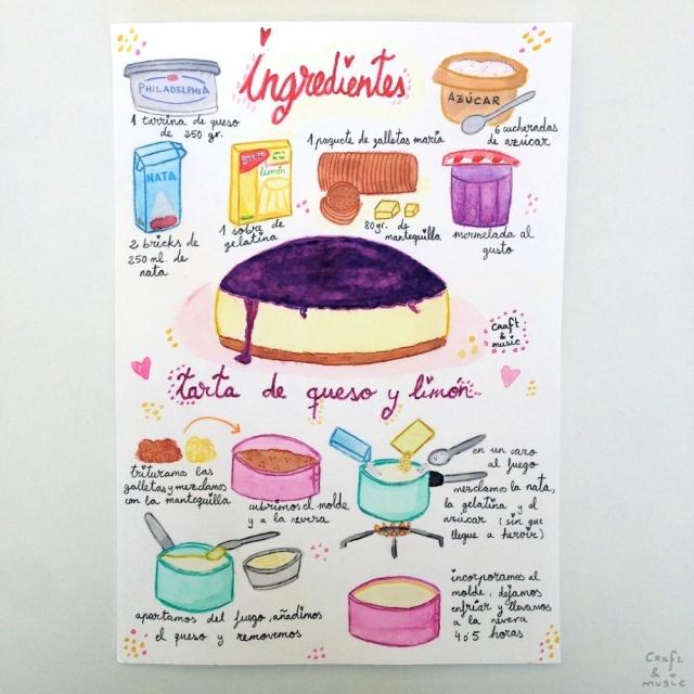 tarta de queso y limón - receta