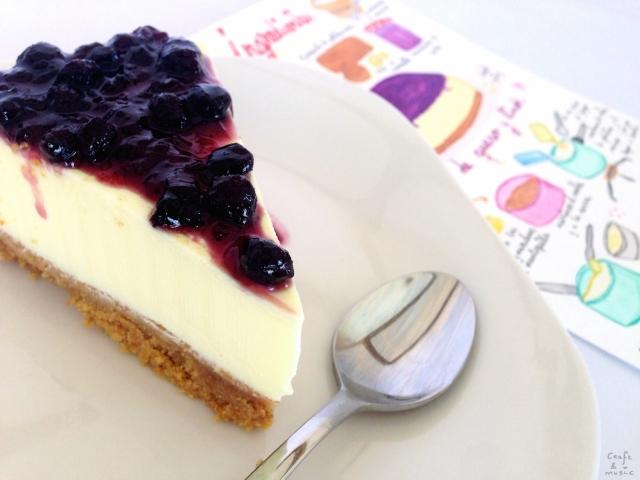 tarta queso y limón primer plano