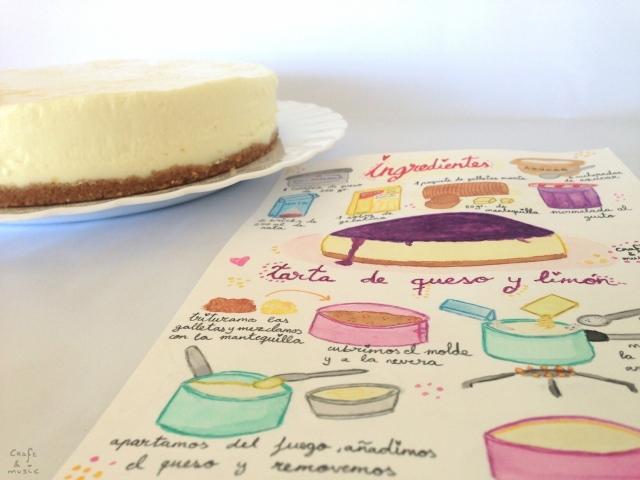 tarta queso y limón