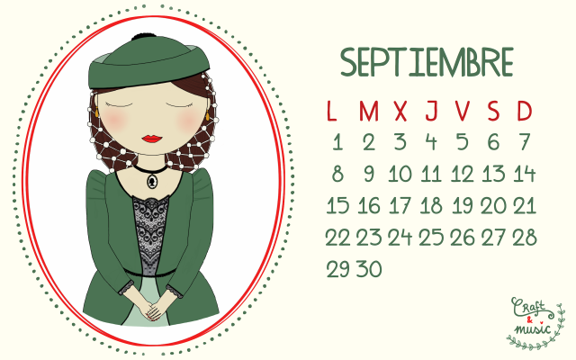 Calendario Septiembre 2014 craft&music