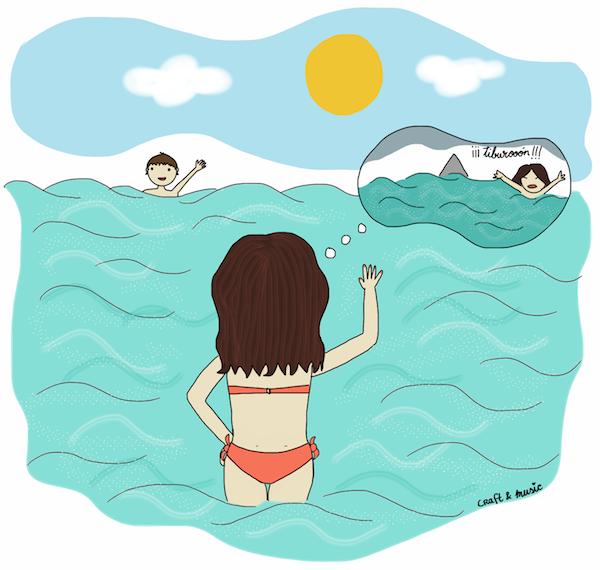 Lo hondo de la playa