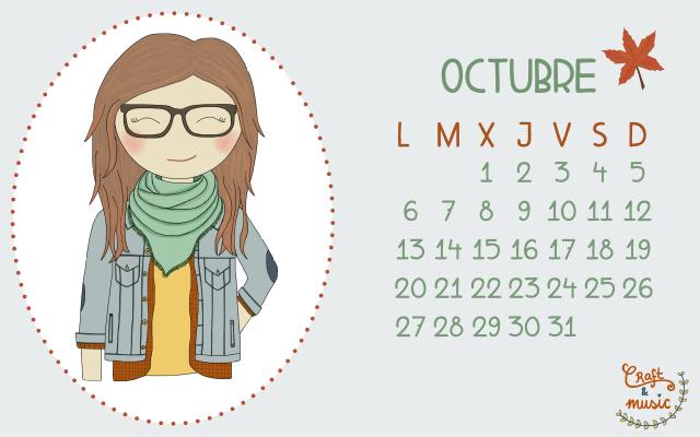 Calendario Octubre craft&music