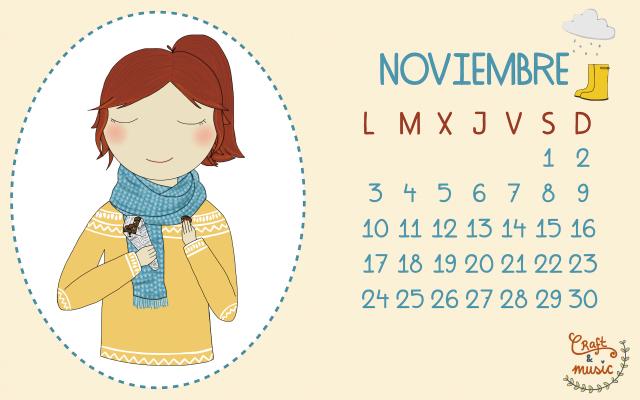 Calendario Noviembre craft&music