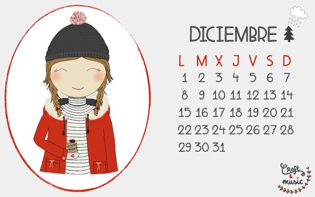 Calendario Diciembre CortarPegaryCantar