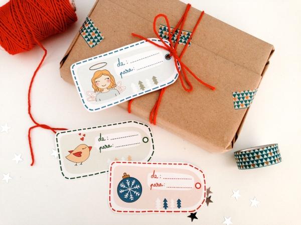 etiquetas imprimibles regalos navidad