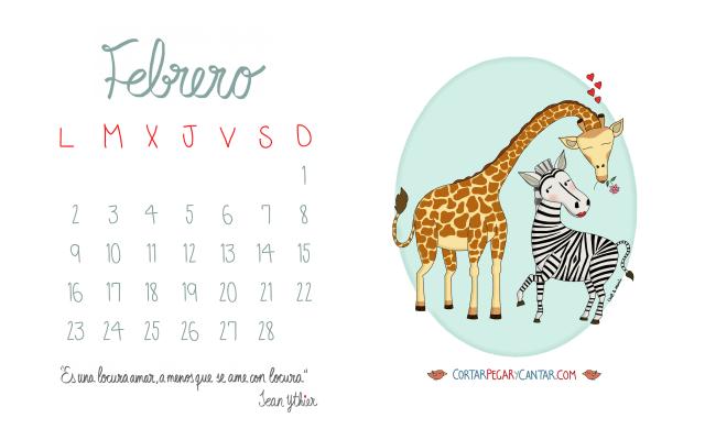 Calendario febrero 2015 craft&music