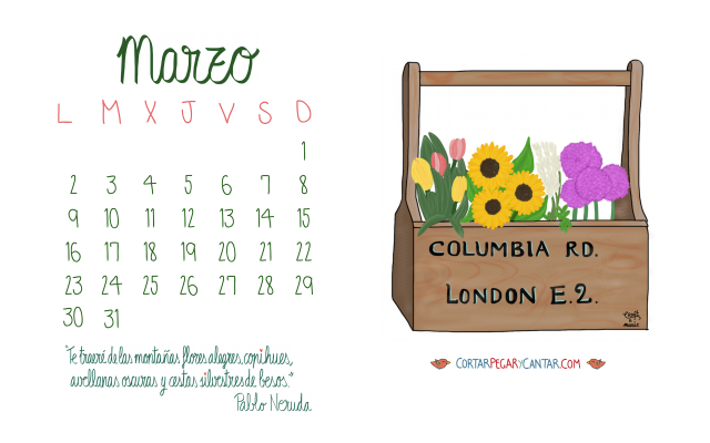 Calendario marzo 2015 craft&music