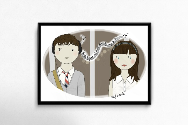 (500) days of Summer-ilustracion