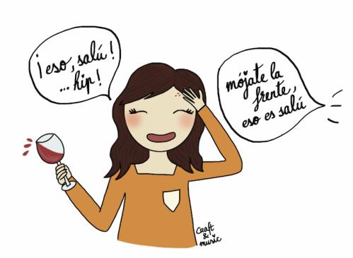 derramar el vino - supersticiones