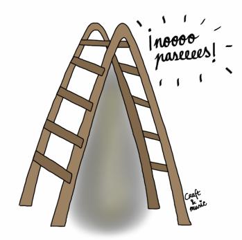 escalera - supersticiones