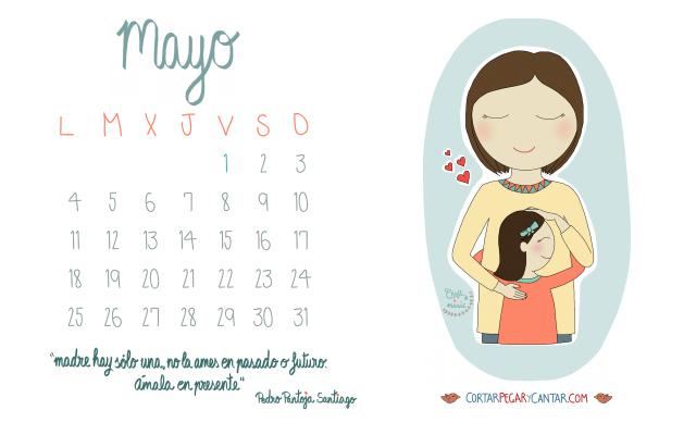 calendario ilustrado descargable mayo 2015