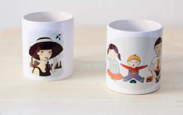 tazas hermanos y Audrey 2