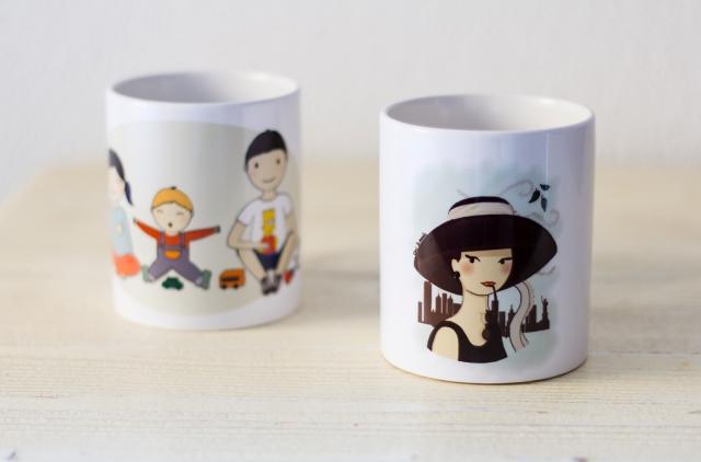tazas hermanos y Audrey