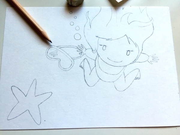 Blogersando dibujo a lápiz