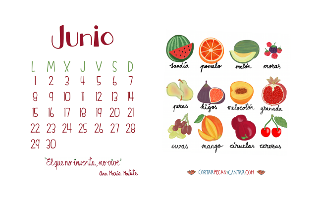 Calendario junio 2015 craft&music