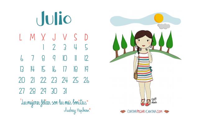 Calendario julio 2015 craft&music