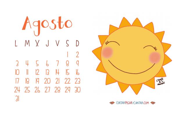 Calendario agosto 2015 craft&music