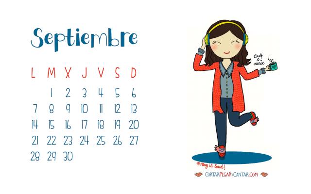 Calendario septiembre 2015 craft&music