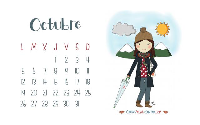 Calendario Octubre 2015 craft&music